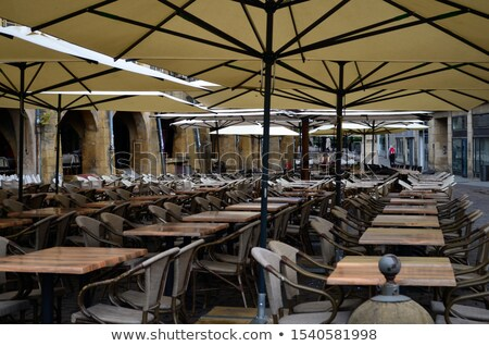 Empty Street Cafe Chairs and Tables Stock photo © stevanovicigor