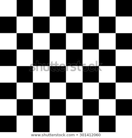 Tablero de ajedrez mate tres caballo negro silueta Foto stock © mayboro1964