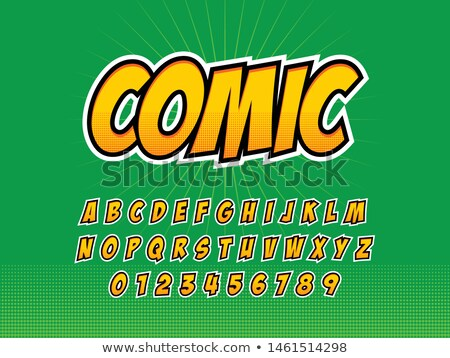 comics style alphabet stock photo © netkov1