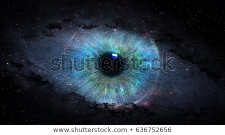 human eye blue pupil symbol stock photo © blaskorizov