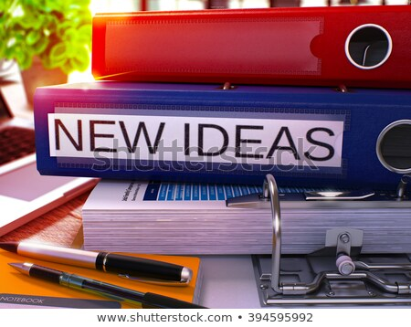 red office folder with inscription fresh ideas stock photo © tashatuvango