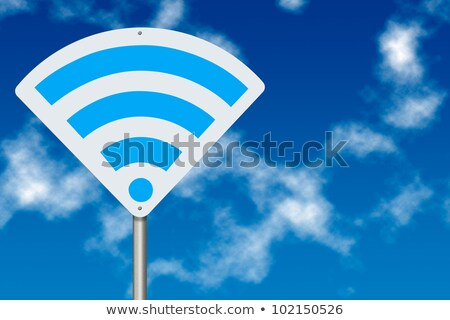 Wireless network sign over white stock photo © blotty