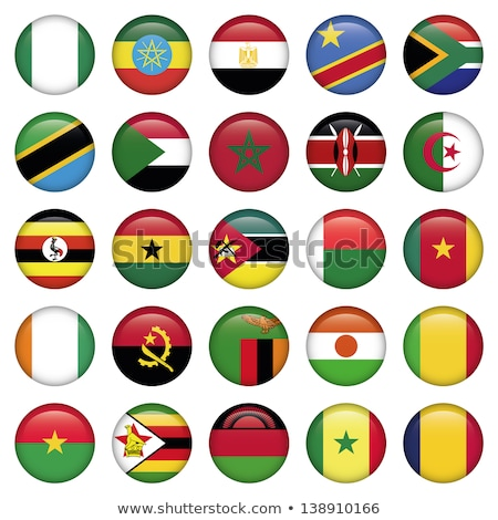 Icon vlag Senegal glanzend teken witte Stockfoto © MikhailMishchenko