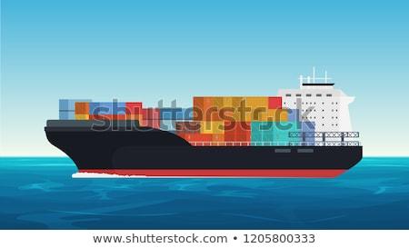 vrachtschip · geïsoleerd · witte · business · zee - stockfoto © konturvid