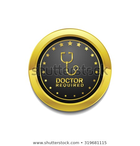 Doctor Required Golden Vector Icon Button Stock photo © rizwanali3d