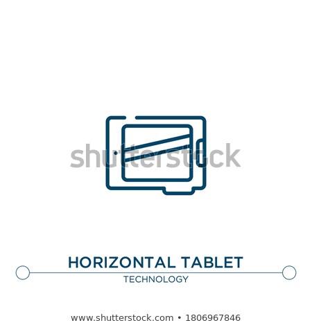 Együtt konzerv modern laptop képernyő különböző Stock fotó © tashatuvango