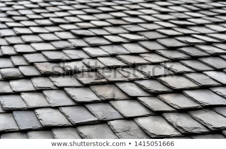 slate stone roof tiles outside view perspective stock photo © lunamarina