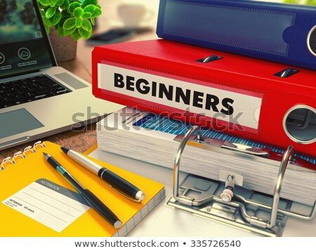 Red Office Folder with Inscription Beginners. Stock photo © tashatuvango