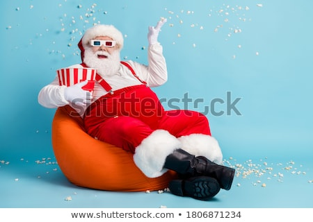 Santa Claus on the Bean Bag stock photo © grivina