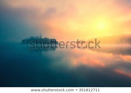 湖 · 霧 · 空 · 太陽 · 自然 · 日の出 - ストックフォト © fesus