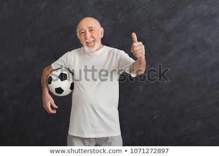 улыбаясь · счастливым · лысые · старик · портрет · нейтральный - Сток-фото © feedough