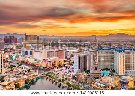 Las · Vegas · imzalamak · sabah · ABD · eğlence · Nevada - stok fotoğraf © phbcz
