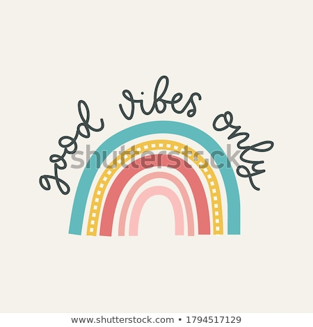 Be Positive in Multicolor. Doodle Design. Stock photo © tashatuvango