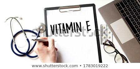 E-Health Hand Blue Marker Stock photo © ivelin