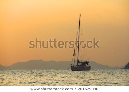 Sailing yaht in open sea  Stock photo © bartekwardziak