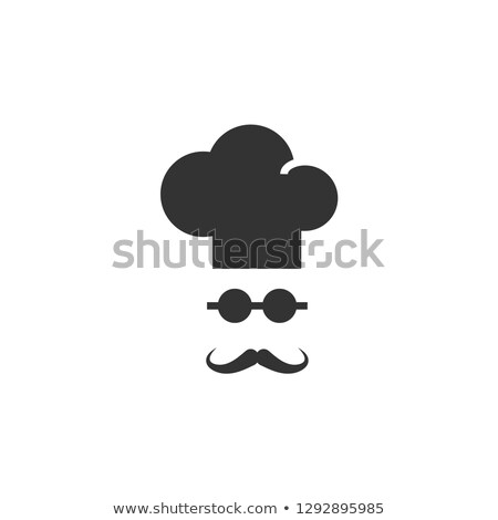Chef kok icon man snorren baard Stockfoto © Winner