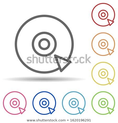 Stock fotó: Modern · videó · játékos · ikon · rózsaszín · technológia