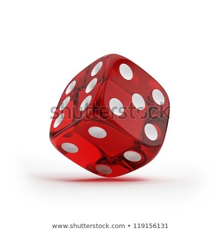 három · piros · izolált · fehér · 3D · renderelt - stock fotó © daboost