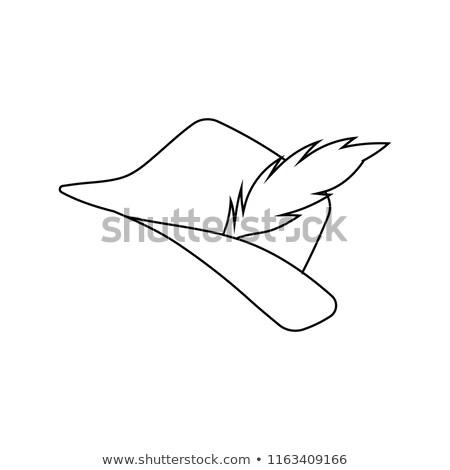 икона охотник Hat Перу дизайна ui Сток-фото © angelp