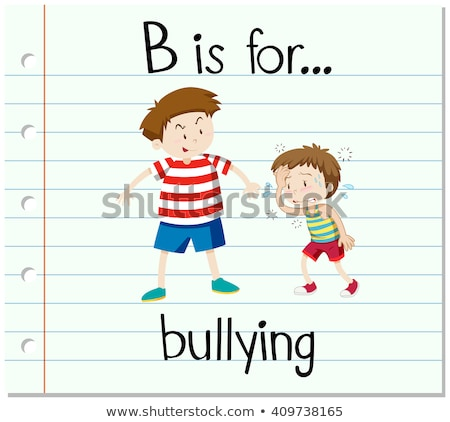 Flashcard letter B is for bullying Stock photo © bluering