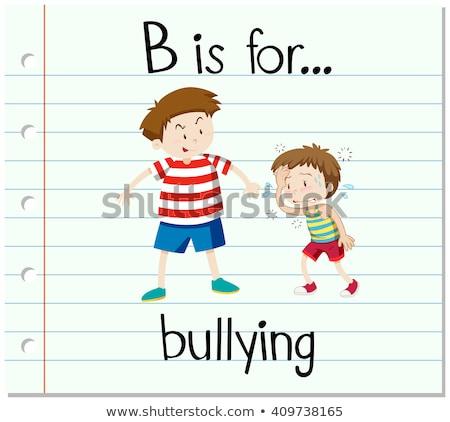 Carta intimidación ilustración fondo arte educación Foto stock © bluering