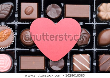 heart symbol from chocolate stock photo © oleksandro
