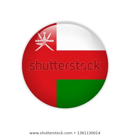 Оман флаг кнопки путешествия красный черный Сток-фото © ojal