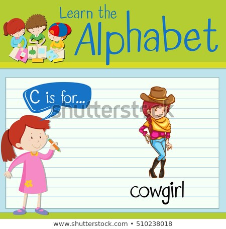 Flashcard letter C is for cowgirl Stock photo © bluering
