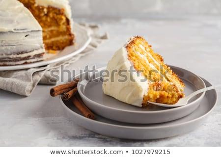 Cenoura abóbora bolo sobremesa férias tradicional Foto stock © M-studio