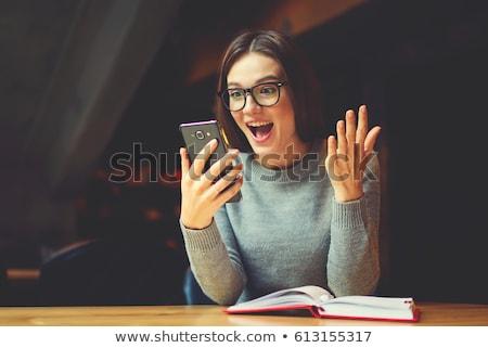 Una buena noticia mesa de madera palabra oficina moda nino Foto stock © fuzzbones0