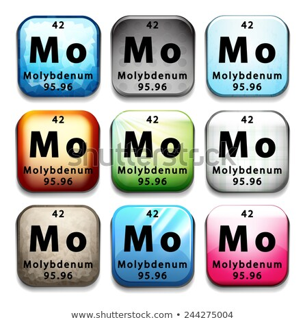 A periodic table showing Molybdenum Stock photo © bluering