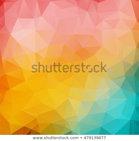 Abstract 2D mulicolor composition with triangle shapes Stock photo © igor_shmel