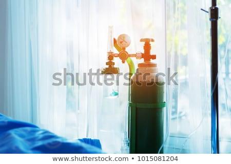 Oksijen tank altı farklı renkler yeşil Stok fotoğraf © bluering
