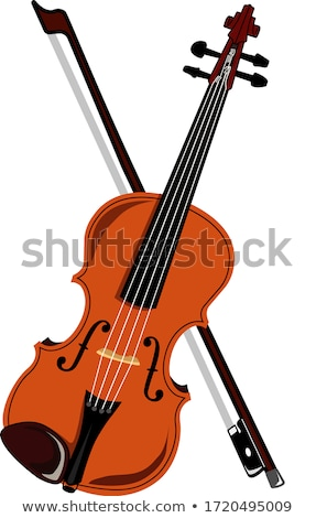 Wooden violin with bow vector illustration. Stock photo © RAStudio
