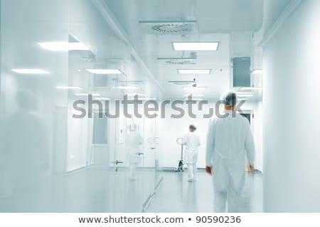Foto stock: Trabalhando · pessoas · branco · caminhada · moderno