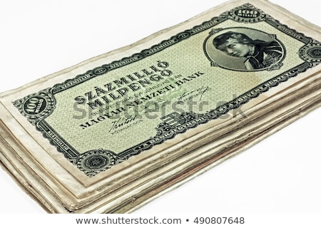 Stock photo: Old Hungarian one million pengo currency isolated
