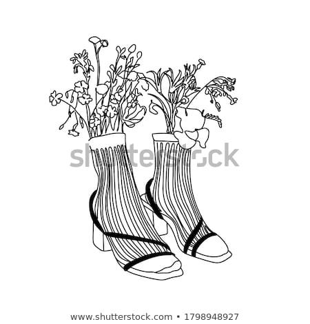 örnek kadın bacaklar siyah moda ayakkabı Stok fotoğraf © Margolana