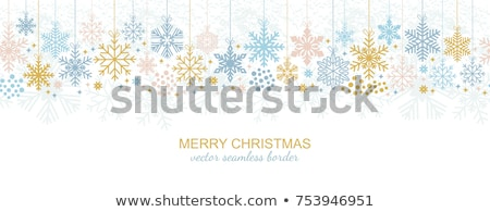 seamless pattern golden winter banner with xmas balls vector illustration stock photo © carodi