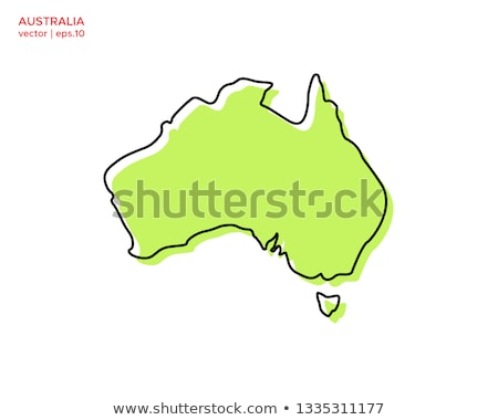 Australia Map Geography Shape vector icon Stock photo © briangoff