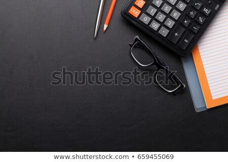 calculadora · cuaderno · aislado · blanco · oficina · financiar - foto stock © karandaev