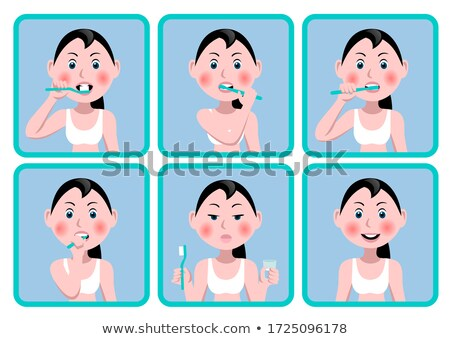 Mouth with toothbrush. Stock photo © Kurhan