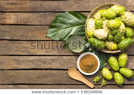 gyümölcs · dzsúz · por · fából · készült · egészség · gyógynövény - stock fotó © Bigbubblebee99
