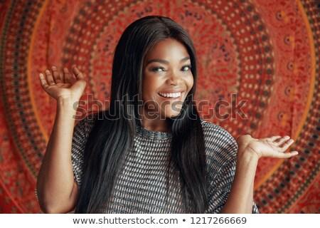 Beauté portrait tendre africaine jeune femme Creative Photo stock © deandrobot
