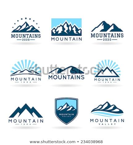 Foto stock: Montanhas · logotipo · modelo · céu · abstrato · paisagem