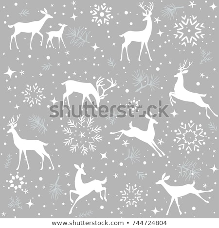 christmas pattern snowflake background eps 10 stock photo © beholdereye