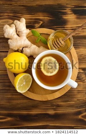 имбирь · лимона · чай · стекла · Кубок - Сток-фото © m-studio