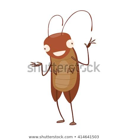 Cute cucaracha Cartoon pie mano feliz Foto stock © jawa123