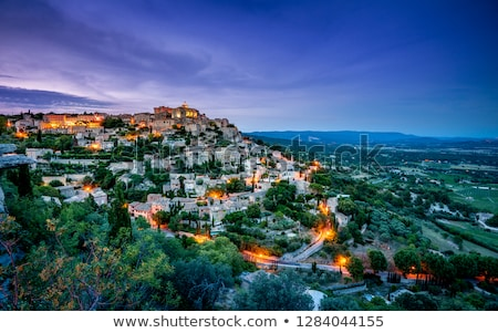 View to the Gordes, hilltop village in France Stock photo © amok