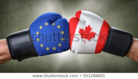 A boxing match between the European Union and Canada Stock photo © Zerbor
