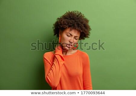 Nyak vállak fiatal nő intenzív néz mutat Stock fotó © Giulio_Fornasar
